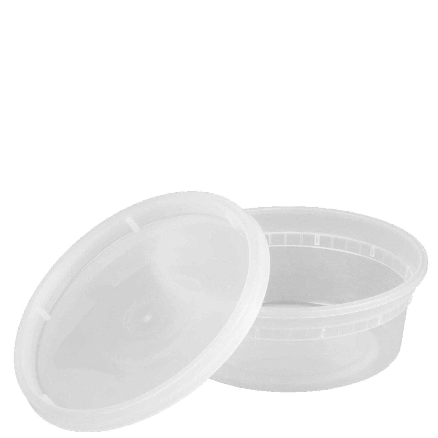 Plastic Deli Food Storage Containers with Airtight Lids (8 oz. - 48 Sets)