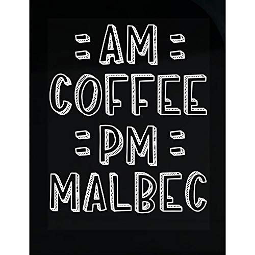 AM Coffee PM Malbec - Transparent Sticker