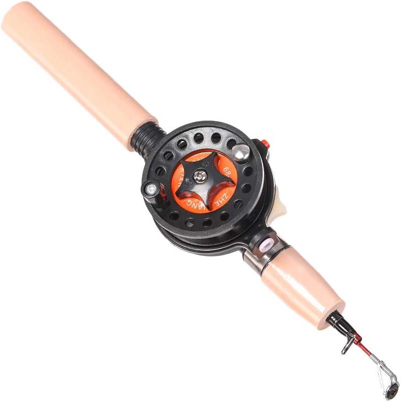 LIOOBO Spinning caña y Carrete Combos de Pesca de telescópica caña ...