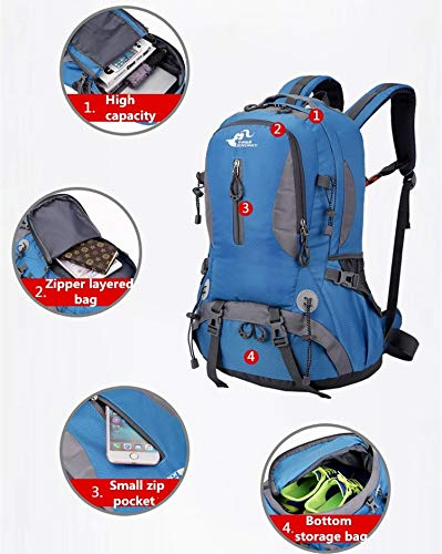 Bag Male Hiking Waterproof Travel Camping Outdoor Riding Female Large Sports Backpack Grossartig New Blue 50l Capacity Mountaineering q4XRRw