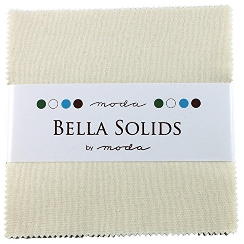(Bella Solids Ivory Moda Charm Pack By Moda Fabrics; 42-5