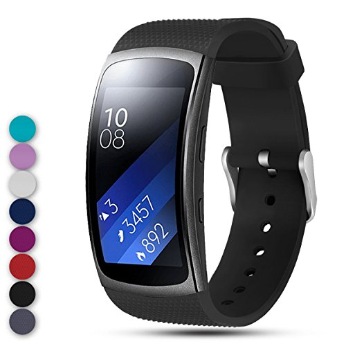 Feskio for Samsung Gear Fit2 PRO / Fit2 SM-R360 Replacement Watch Band Strap, Soft Silicone Wristband Straps Sport Band Bracelet for Samsung Gear Fit2 Pro and Fit 2 SM-R360 Smartwatch