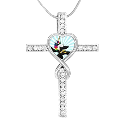 Amazon.com: Beufun Cross Infinity Love Pendant Necklace ...