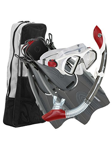 UPC 053242302258, US Divers Admiral Dry Snorkeling Set Large/XL (mens 9-13) Gray/red