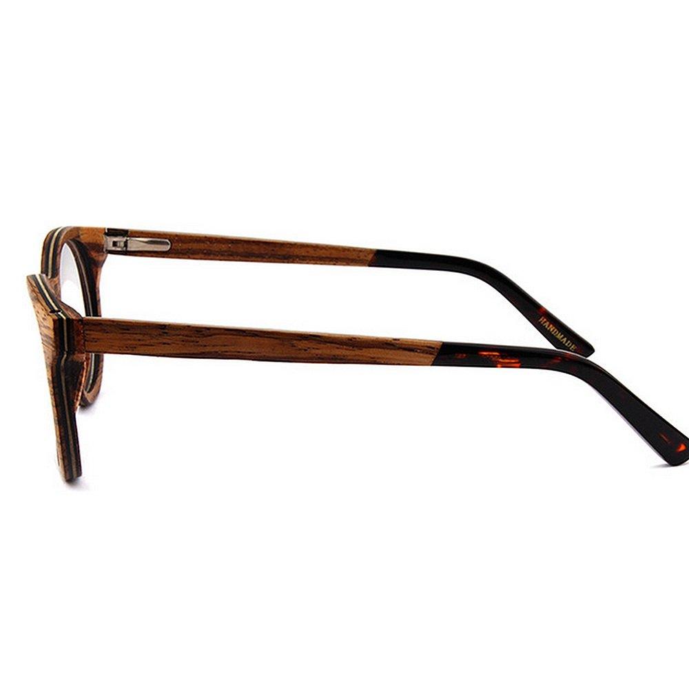 KSUNSEVEN Vidrios Gafas de Madera de los Hombres vidrios Redondos ...
