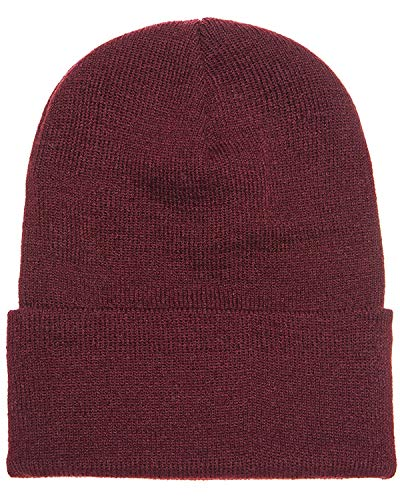 A Product of Yupoong Adult Cuffed Knit Beanie -Bulk Saving Maroon