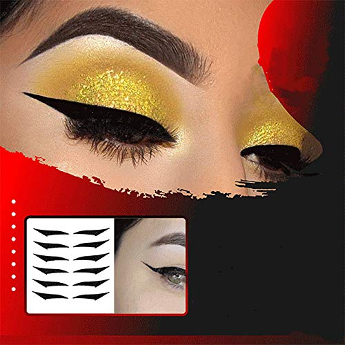 HXS Stickers for Eye's Makeup, 6 Pairs Reusable Eyeliner Stickers Self-adhesive Eye Line Strip Sticker, Easy & Quick Eyelid Makeup Tools, Makeup Tape Supplies for Daily Party Cosplay 6 Pair (6pairs,A)