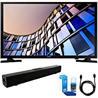 Samsung UN28M4500 27.5 720p Smart LED TV (2017 Model) w/ Sound Bar Bundle Includes, Solo X3 Bluetooth Home Theater Sound Bar, 6ft High Speed HDMI Cable and LED TV Screen Cleaner