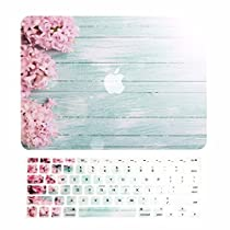 TOP CASE - 2 in 1 Bundle Deal Retina 13-Inch Vibrant Summer Graphics Rubberized Hard Case + Keyboard Cover for MacBook Pro 13