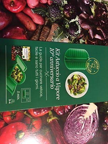Kit de estuche verde + libro de recetas de cocción a vapor, 10° aniversario: Amazon.es: Hogar