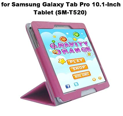 Cool Samsung Galaxy Tab Pro 10 1 Inch Tablet Sm T520 Custom Fit Portfolio Leather Leather Case Cover With Built In Stand Hot Pink Beutiful Home Inspiration Xortanetmahrainfo