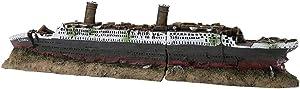 Aquarium Wreck Ornaments, Resin Material Wreck Sailing Boat Sunk Ship Fish Tank Decor Ship Decorations