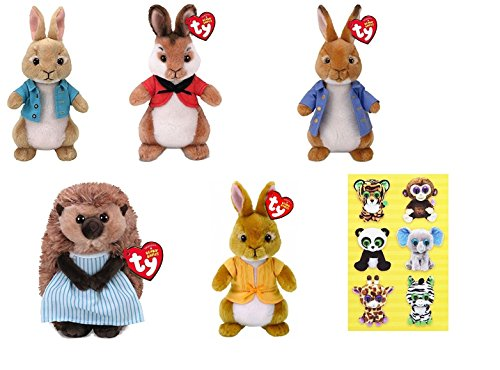 TY Peter Rabbit Collection - Cottontail - Flospy - Mopsy - Peter Rabbit - Mrs Tiggy Winkle\]()