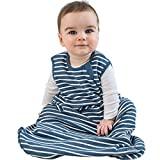 Baby Sleep Bag from Woolino, 4 Season Basic Merino Wool Wearable Blanket, 18-36m, Navy Blue
