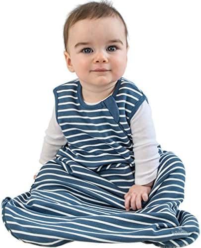 Baby Sleep Bag, 4 Season Basic Merino Wool Wearable Blanket, 18-36m, Navy Blue