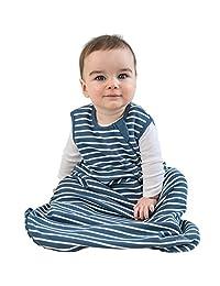 Baby Sleep Bag from Woolino, 4 Season Basic Merino Wool Wearable Blanket, 18-36m, Navy Blue