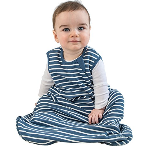 Baby Sleep Bag, 4 Season Basic Merino Wool Infant Sleeping Bag, 0-6m, Navy Blue