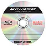 Delkin DDBD-R/25 SPIN 6X 200 Year 6x Blu-Ray Disc, 1 Pack