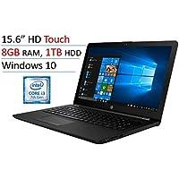 2018 HP 15.6 Touchscreen Laptop PC, Intel Core i3-7100U, 8GB DDR4, 1TB HDD, Intel HD Graphics 620, 802.11ac, Bluetooth, DVD RW, USB 3.1, HDMI, Webcam, Windows 10 Home, Jet Black