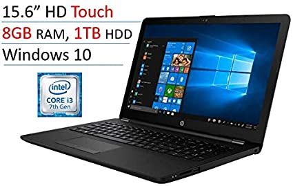 "2018 HP 15.6"" Touchscreen Laptop PC, Intel Core i3-7100U, 8GB DDR4"