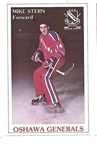 MIKE STERN 1981-82 Oshawa Generals Police SGA OHA #13 Hockey Rookie Card RC (1981 Stern)