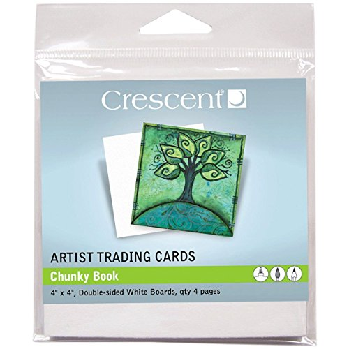 Crescent Chunky Book pages, (2) packs of 4 - Artist Trading Cards, white 4