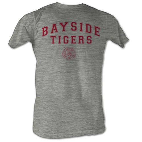 Saved By The Bell Bayside Tigers T-shirt, Athletic Heather, 2XL