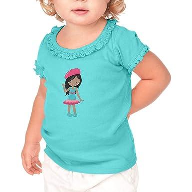 3f95fd80301 Amazon.com: French Girl Waves B Short Sleeve Toddler Cotton Ruffle ...