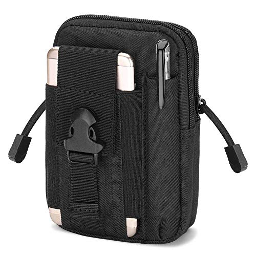 Haafoo Tactical Molle Phone Waist Pouch, with Cell Phone Holster for iPhone 6/7/X Plus etc, Outdoor Utility EDC Security Waist - Cell Pouch