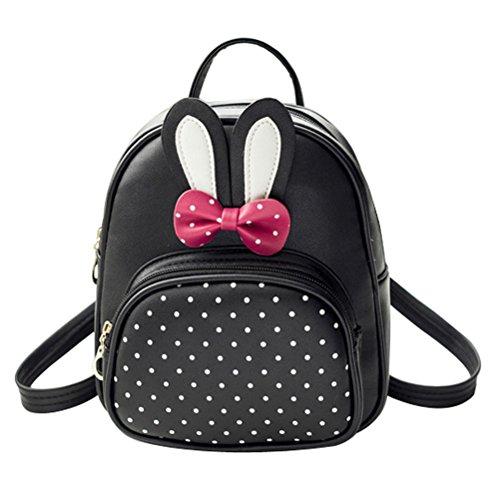 Donalworld Girl Floral School Bag Travel Cute PU Leather Mini Backpack M (Mini Backpack)