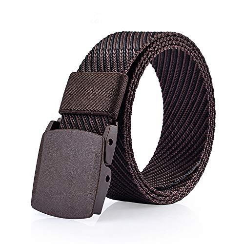 (Canvas Belt Designer Belts Men Twill Jacquard Canvas Belts Men Jeans Modeling Belt Man Tactical Belt (Coffee)