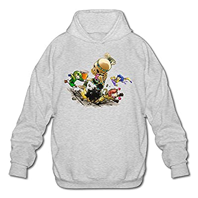 XJBD Men's The Legend Of Zelda Special Hoodie Ash