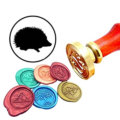 Kooer Hedgehog Wax Seal Stamp Custom Hedgehog Sealing Wax Stamp Kit Hedgehog Wax Stamp Kit Personalized Wedding Anniversary Invitation Seal Stamp