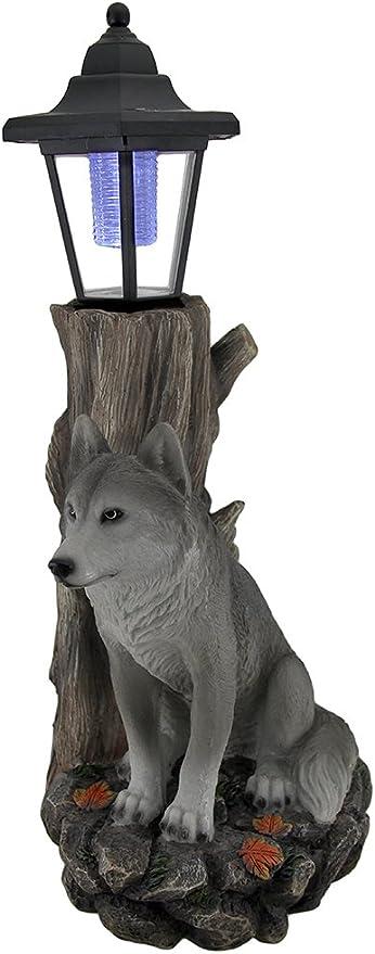 Amazon.com: Watchful Wolf Esculturales – Farol solar ...