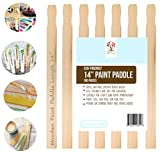 """Wooden Paint Stir Sticks 14"""" Bulk Pack of 100pc, Paint Paddles for Mixing Paint & other liquids, Use for Art project & home improvement, Garden, Library Marker & Kids activity DIY Wood Craft Sticks"""