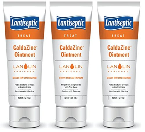 Lantiseptic Caldazinc Ointment 4 oz Tube - Pack of 3 - (Treats irritated Skin,