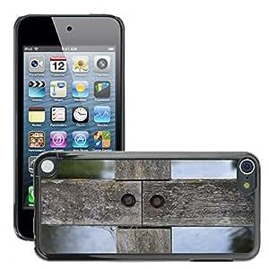 Print Motif Coque de protection Case Cover // M00155952 Maderas Cruz de madera cerca de madera // Apple ipod Touch 5 5G 5th 6 6G 6th