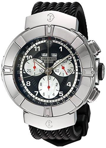 charriol-mens-celtica-swiss-quartz-stainless-steel-and-rubber-dress-watch-colorblack-model-c44s17300