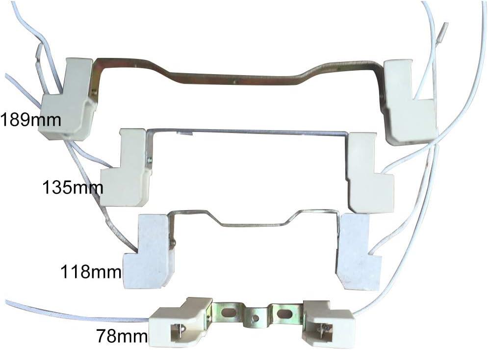 78//118//135//189mm Double-Ended Halogen Lamp Base Connector Metal Ceramics Handle R7S Base Lamp Holder Connector Ceramic Light Sockets