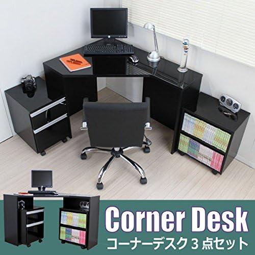 J-Supply パソコン デスク コーナー 鏡面