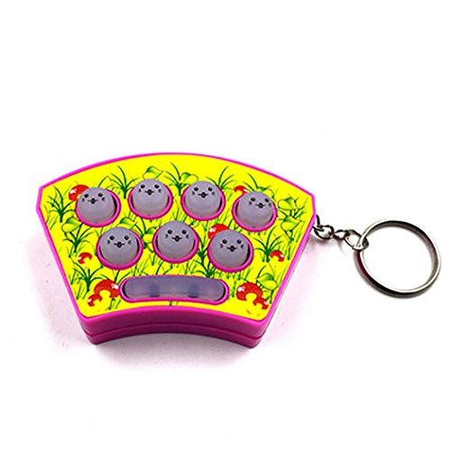 Fiaya Portable Mini Whac-a-mole Game Electronic Board Game Decompression Toy Key Buckle