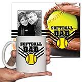 Softball-Dad-Office-Set-Picture-Frame-and-11oz-Coffee-Mug