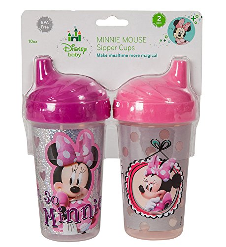 Disney Minnie Mouse Clubhouse Sippy Cups, Pink/Gray, 2 Count