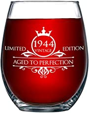 1944 75th Birthday Gifts For Women And Men Wine Gl 13951395