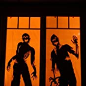 Amazon.com: Window Poster Halloween Ghoulies Silhouettes