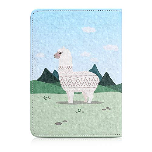 kwmobile Case for Tolino Shine 2 HD - Book Style PU Leather Protective e-Reader Cover Folio Case - champagne green light blue by kwmobile (Image #3)