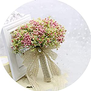 Tokyo Cold Bride Holding Flowers Romantic Wedding Colorful Gypsophila Bride 's Bouquet Pink Purple Blue Bridal Bouquets 40