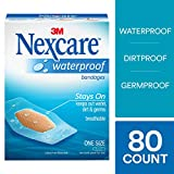 Product review for Nexcare Waterproof Bandages, Moist Wound Healing Environment, Seals Out Water, Dirt, Germs, Ideal for Sports and Exposure to Water, One Size, 80 Count