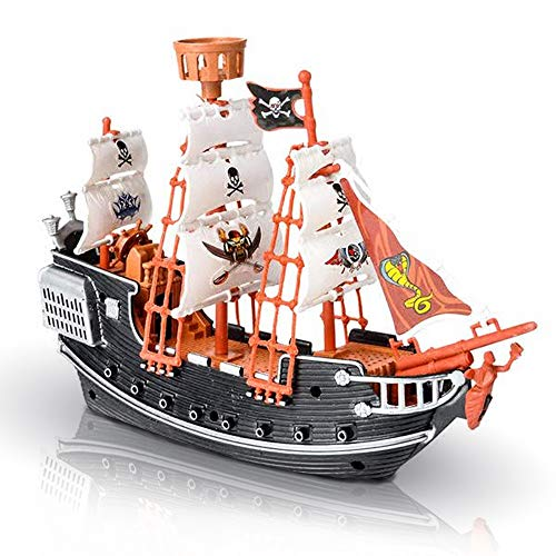 (ArtCreativity 10 Inch Pirate Boat - Detailed Pirate Ship Playset - Fun Pirate Party Favor and Prize - Excellent Gift for Kids Ages 5+)