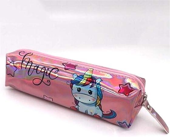 Estuche holográfico Iridiscente for niñas Boy PU Útiles Escolares Papelería Regalo Caja de lápices Linda Bolsa de lápices Estuxhes (Color : N): Amazon.es: Hogar